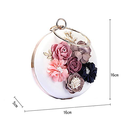 Luxury Flower Pearl Bag C Bag Party Clutch Round Evening Beaded Evening Dress WUHX Premium Embroidery Bag Bag Dinner 57qwwXO