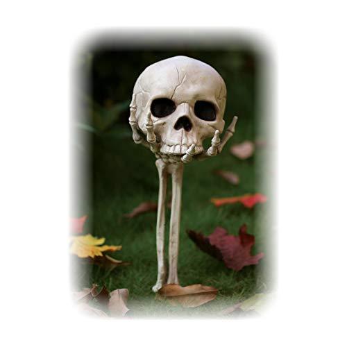 Crazy Bonez Skull in Hand Lawn Stake Decoration]()