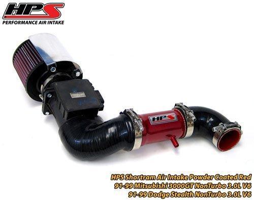91-99 Mitsubishi 3000GT Non Turbo 3.0L V6 HPS Short Ram Air Intake Kit Red
