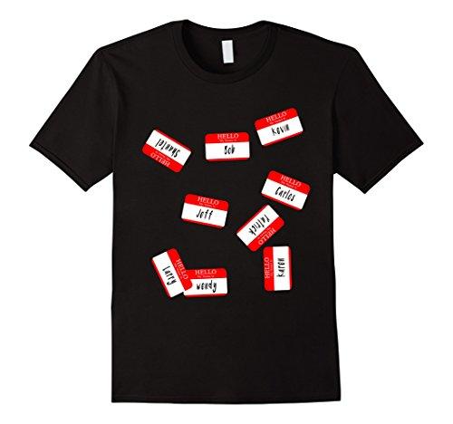 Mens Identity Thief last minute Halloween funny costume T-shirt XL Black