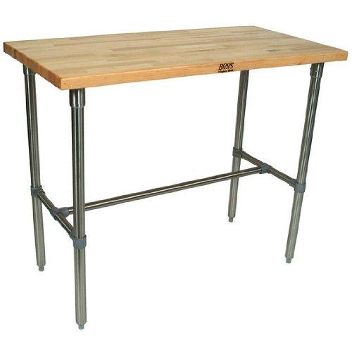 (John Boos Cucina Americana Classico Prep Table with Wood Top Size: 48