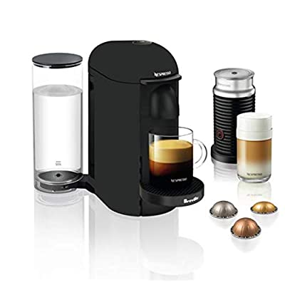 Image of Home and Kitchen Nespresso VertuoPlus Coffee and Espresso Maker by Breville with Aeroccino, Matte Black