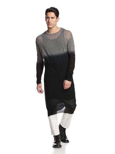 Ann Demeulemeester Men's Knit Kashcot Grey/Deep Black, XX Small - Ann Demeulemeester Men