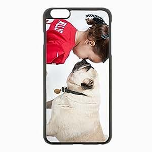 iPhone 6 Plus Black Hardshell Case 5.5inch - bulldog friendship Desin Images Protector Back Cover