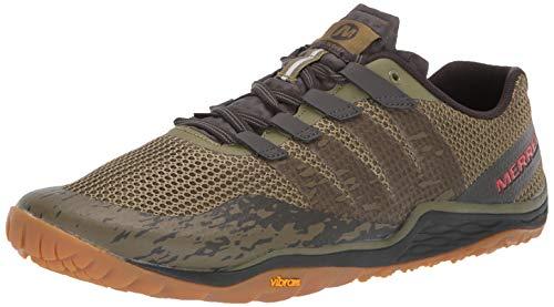 (Merrell Men's Trail Glove 5 Sneaker, Olive DRAB/Beluga, 11.0 M)