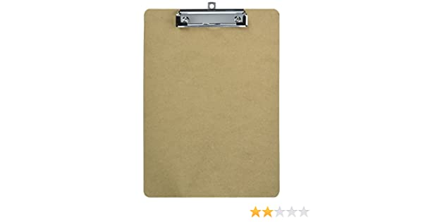 Amazon.com : Sparco Flat Clip Rubber Grip Hardboard Clipboard : Office Products