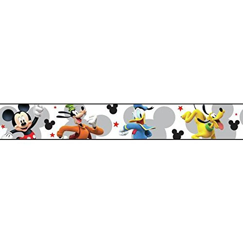York Wallcoverings Kids III Disney Mickey Mouse & Friends Border, Blacks