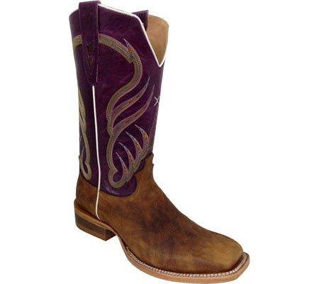Torsadé X Hommes Rancher Cowboy Boot Carré Orteil - Mral010 Tan