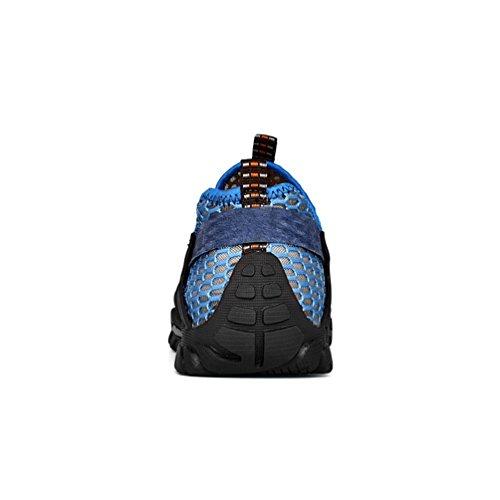Asfalto Deportivas Playa de Deportes y Flarut Trekking Azul Verano Correr Casuales Sandalias Zapatos Hombres Senderismo Montaña Zapatilla Pescador Transpirable Zapatos para Malla awqw4Yx