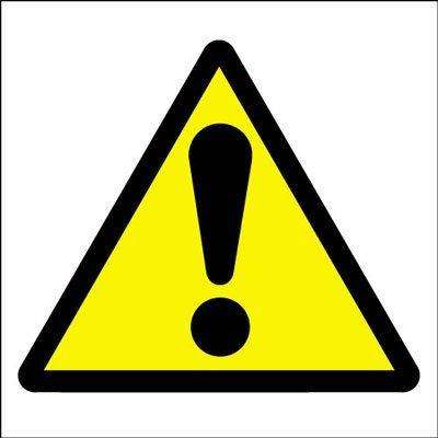 hazard warning safety sign general hazard symbol exclamation