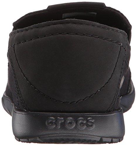 Crocs Walu Luxe Canvas Slip-on Loafer Zwart / Zwart