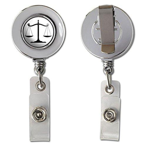 Balanced Scales Justice Symbol Retractable