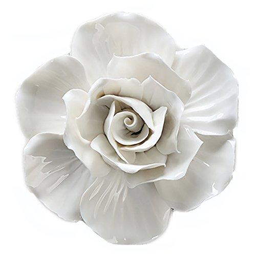 ALYCASO 3D Ceramics Rose Flowers Wall Hangings Imitation Plant Bonsai Home Decoration -