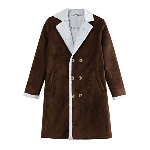 Men's Wool Warm Winter Long Outwear Overcoat Coats Waterproof Winter Jacket ()
