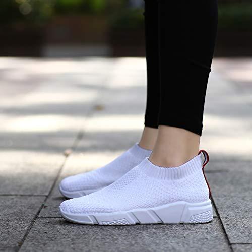 Deporte Libre Antideslizante Zapatillas De Aire Calcetines White Para Verano Mujeres Malla Zapatos Al Correr Deportivo Luz Calzado Transpirable Cf4wwOxqWt