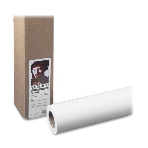 PM Company Perfection Amerigo/Check 24 Wide Format Ink Jet Rolls, 24 Inches x 150 Feet, White, 1/Carton (45151)