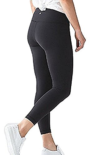 Pant Full On Luon 7/8 Yoga Pants (Black, 6) ()