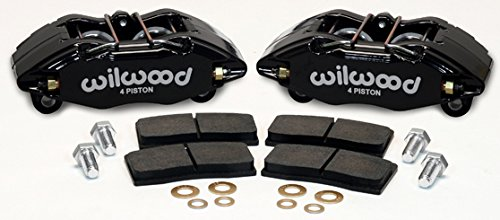 NEW WILWOOD DPHA BLACK BRAKE CALIPERS & PADS, FRONT, HONDA CIVIC, ACCORD, PRELUDE, ACURA INTEGRA, LEGEND - Acura Integra Brake Caliper