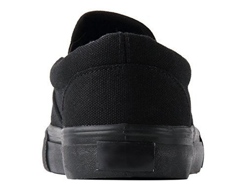 Blivener Womens Loafers Casual Flats Slip On Canvas Shoes 02black ntnIY8O3BN