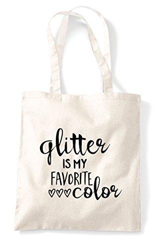 Shopper Crafty Natural Glitter Favourite Is Statement My Colour Bag Tote 78F4U