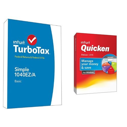 TurboTax Basic 2014 and Quicken Deluxe 2015 Bundle