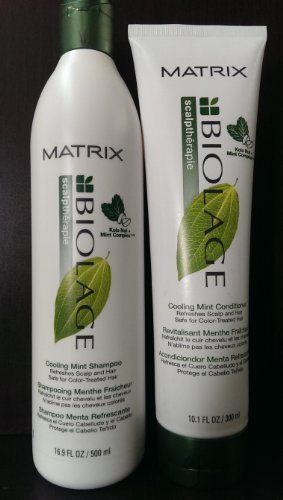 Matrix Biolage Scalptherapie Cooling Mint Shampoo,16.0oz and Conditioner, 10.1oz