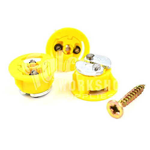 Gripit Yellow//15mm Pack of 8