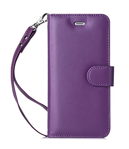 iPhone 6S Wallet Case, iPhone 6 Wallet Case, FYY [Top-Notch Series] Premium Genuine Leather Wallet Case Protective Cover for Apple iPhone 6/6S Purple