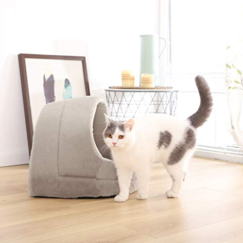 PAWZ Road Pet Dog Cave Bed Sofa Cat House Kitten Puppy Kennel with Soft Mat Beige