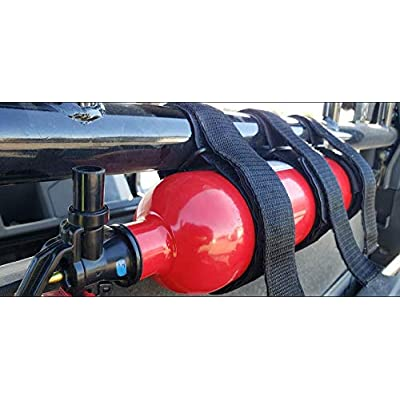 UNIGT Offroad UTV Roll Bar Fire Extinguisher Holder with Mount Replaces Universal for Polaris RZR Ranger General 900 1000 XP Maverick X3 - Enhanced Stitching Quick Release: Automotive