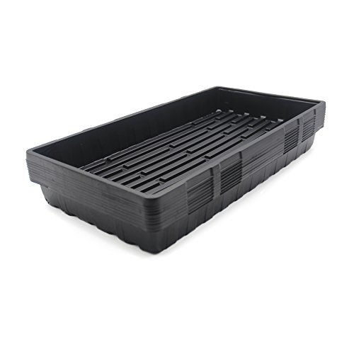 "LOVEDAY 10 pack Seed Trays Seedling Starter Germination Kit Plastic Grow Starting (No Drain Holes) 21.2"" x 11"" x 2.4"" ForFlowers,Greenhouse, Seedlings, Wheatgrass, Microgreens,Planting Seedlings by LOVEDAY"
