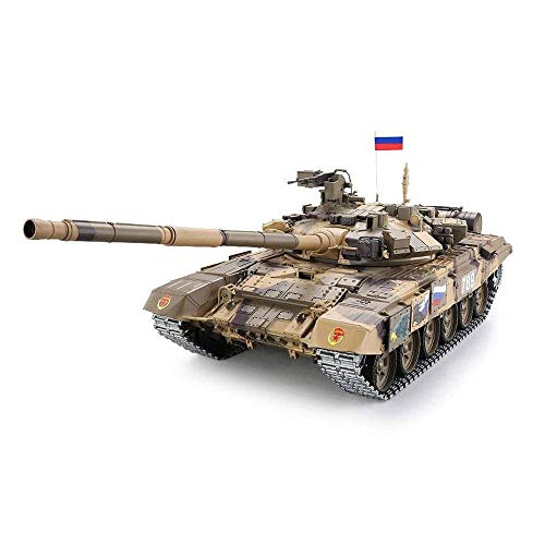 TIEHUE Child Tank Toys,RC Remote Tank, Oversized Russian T90 Tank 2.4Ghz Remote Control 1/16 Scale Model, Metal Track…