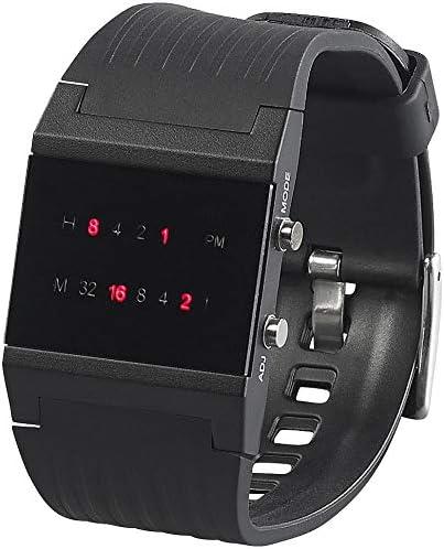 St. Leonhard–Reloj Binario: Binario de Reloj de Pulsera Future Line con Pantalla roja, para Hombre (binäre Relojes Hombre)