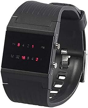 St. Leonhard Reloj binario: binario de reloj de pulsera Future Line con pantalla roja, para hombre (binäre Relojes Hombre): Amazon.es: Deportes y aire libre