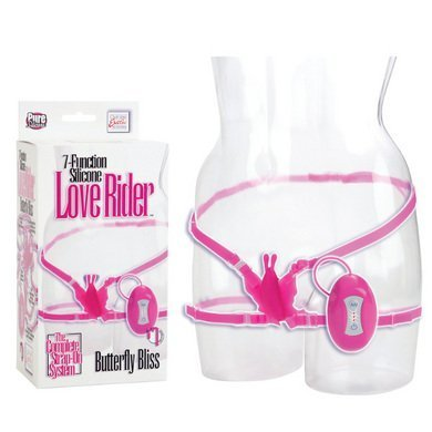 California Exotic Novelties 7 Function Silicone Love Rider Butterfly Bliss, Pink, 0.29 Pound