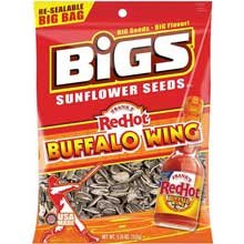 Bigs Franks RedHot Buffalo Wing Sauce Sunflower Seed - 12 per pack - 4 packs per case. by Thanasi