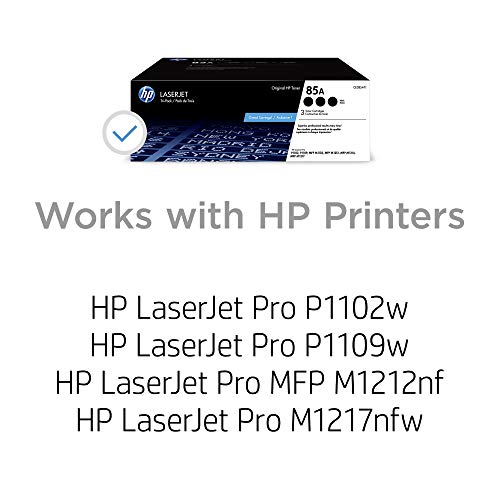 HP 85A | CE285AT1 | 3 Toner Cartridges | Black