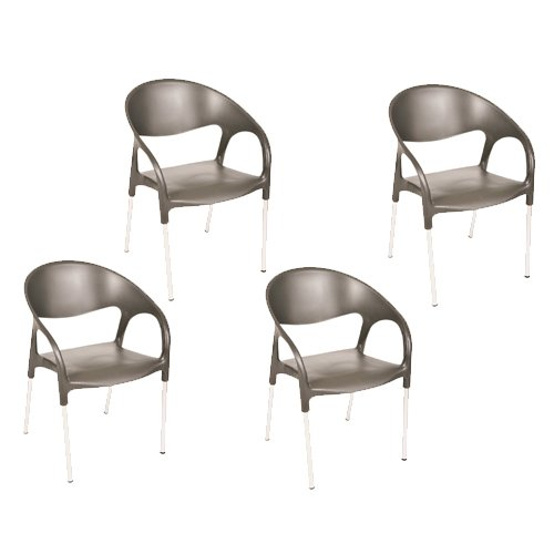 Cheap Tensai Luna Armchair in Anthracite – Set of 4