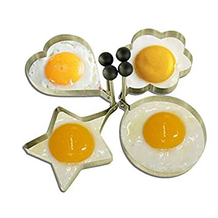 eDealMax cocina de acero inoxidable antiadherente tortilla de huevo molde del molde de la crepe Anillo