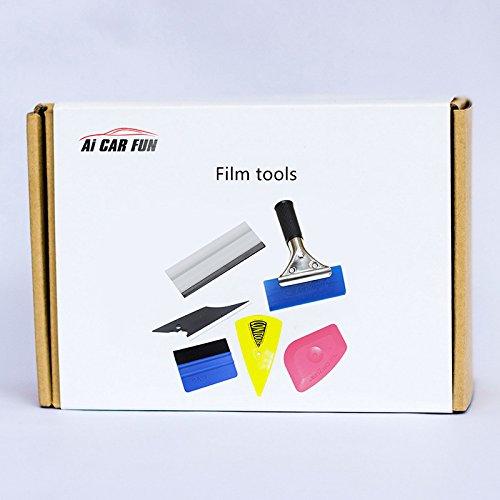 6 PCS V/éhicule Window Film teint/é Wrap Tool Kit Ensemble de Vinyle Outils dinstallation de Film de fen/être pour lemballage Automobile Decals DIY Int/érieur