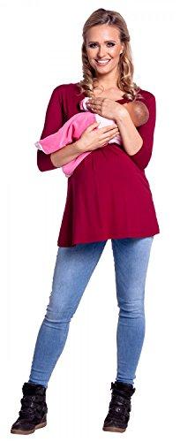 Impero 945p Cremisi Donna Top Mama Taglio L'Allattamento Maglietta prémaman Happy 60T4cvz1