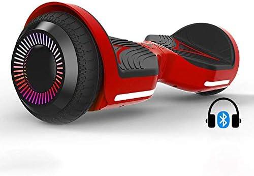 二輪のインテリジェント自己均衡スクーター、カラフルな照明モーターとBluetoothスピーカー (Color : A)