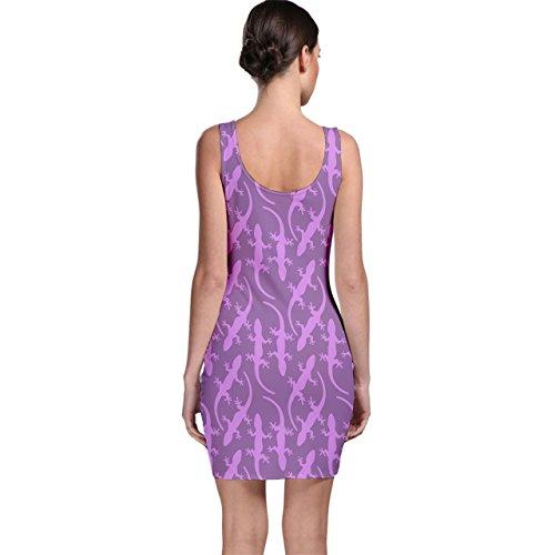 Cowcow Ton Violet Joli Modèle En Forme De Gecko Robe Moulante