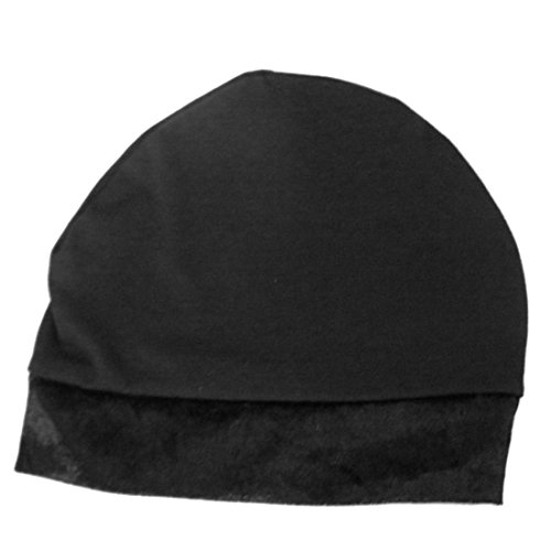 Black No Slip Cotton Wig Liner for Hats, Caps and Wigs (LadyBug Headscarves) ()