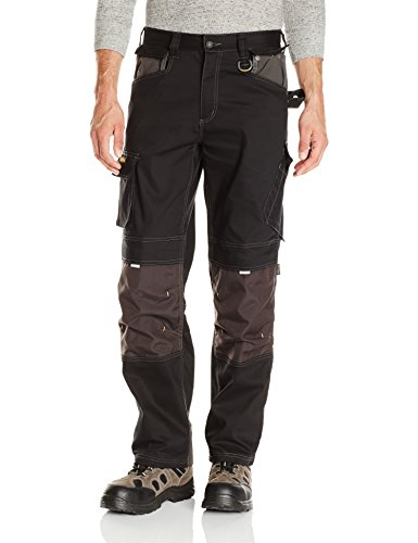 Caterpillar Men's H2O Defender Pant (Regular and Big & Tall Sizes), black/graphite, 32W x 30L (Best Work Pants For Plumbers)