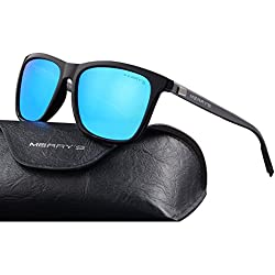 MERRY'S Unisex Polarized Aluminum Sunglasses Vintage Sun Glasses For Men/Women S8286 (Blue, 56)