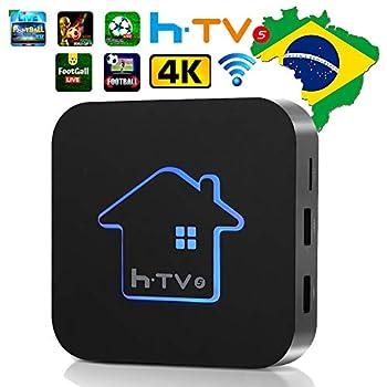 Image of htv 5 6 Brazil BrasilBrazillian Box,2019 Newest HTV Box Brasil HTV 5 6 Better Thaniptv 6 8 TV More Than 300+Popular 4K Brasileiros, maciço filmes, vídeo, Drama Streaming Media Players