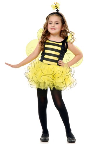 Bumble Bee Costumes Shoes (Charades Child's Sweet Bee Costume Dress, Medium)