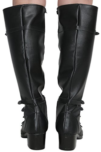 Scarlet Witch Black PU Knee-high Boots Shoes Costume Cosplay Prop Female US8.5 by Hotwinds (Image #3)