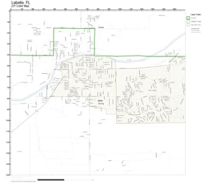 Where Is Labelle Florida In The Map.Amazon Com Zip Code Wall Map Of Labelle Fl Zip Code Map Laminated